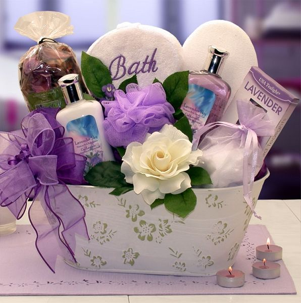 Elegance of Lavender: Luxury Spa Gift Basket at Gift Baskets Etc