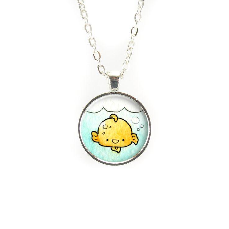 Kawaii Gold Fish Necklace