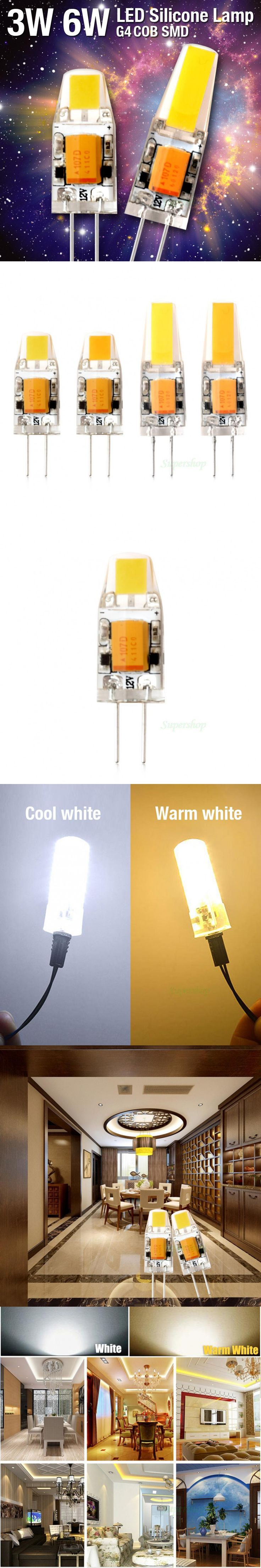 2016 New Recommend AC/DC 3W 6W spotlight High Quality Warm White Lamp Bedroom Bulb Chandelier Light Tube G4 COB LED 12V Dimmable
