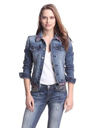 Driftwood Women's Jean Jacket Embroidery Detail