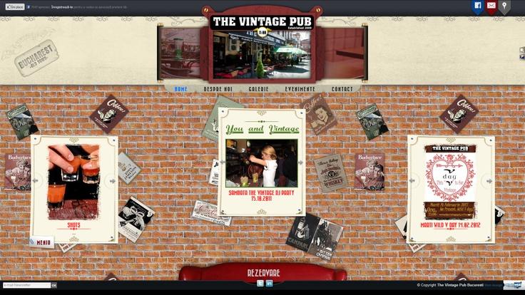 Web design The Vintage Pub by Agentia Web