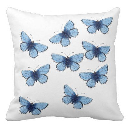 Cushion - Two Sided Butterfly Cushion - shabby chic home decor style diy unique living