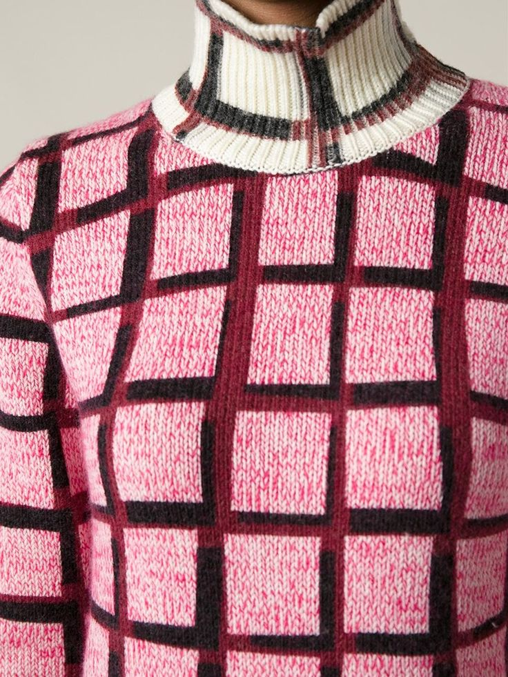 Shop KENZO tartan print sweater from Farfetch Pinned by www.LKnits.com