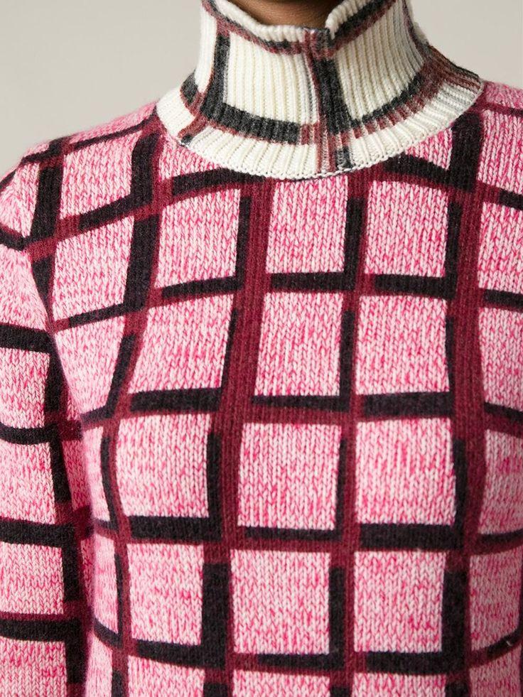 Shop KENZO tartan print sweater from Farfetch
