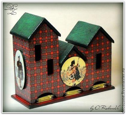 """Чайный домик """"Шотландия"""" - чайный домик,чаепитие,домик ручная работа,шотландка"""