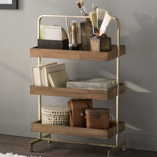 Experience The Warmth Of Walnut Wood And Gold That This Free Standing Decorative Shelving Can Bring To Your Bathroom Shelves Room Shelves Bathroom Shelf Decor