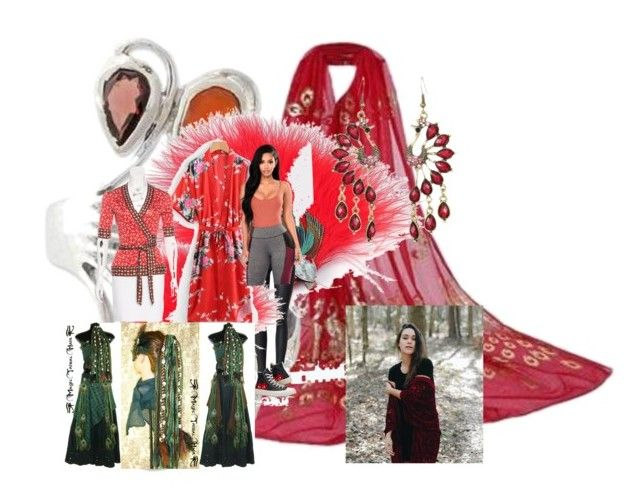 """""""Red Peacock..moulan rouge..."""" by mihoshi-hoshizaki ❤ liked on Polyvore featuring art"""