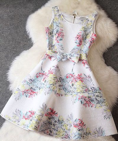 Printed Bow Dress
