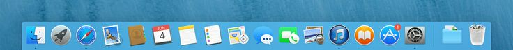 Mac OS X Yosemite: new Dock