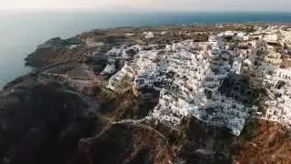 santorini from the sky - YouTube