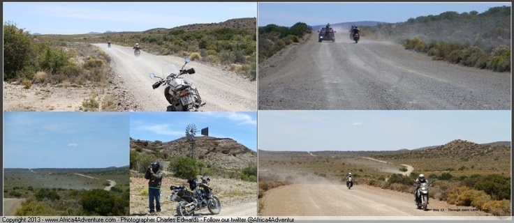 More open dirt road and blue warm skies for many many kilometers on #adventure #motorcycles