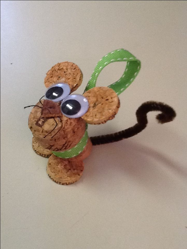 Merry Christmouse. Cork ornament