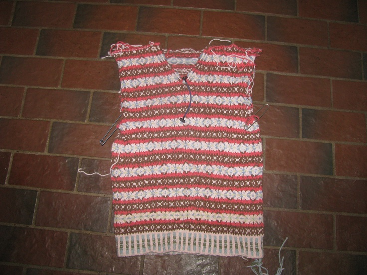 V-Neck Fair Isle Sweater with Steek Cut   ~*fairisle *&* yarn ...