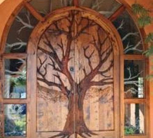 painted door for the cottage garden