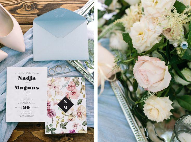 wedding invitation with orchid flower - bröllopskort och bröllopsinbjudan, inbjudningskort