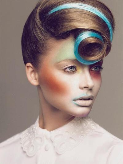 runway hair and makeup by sophia