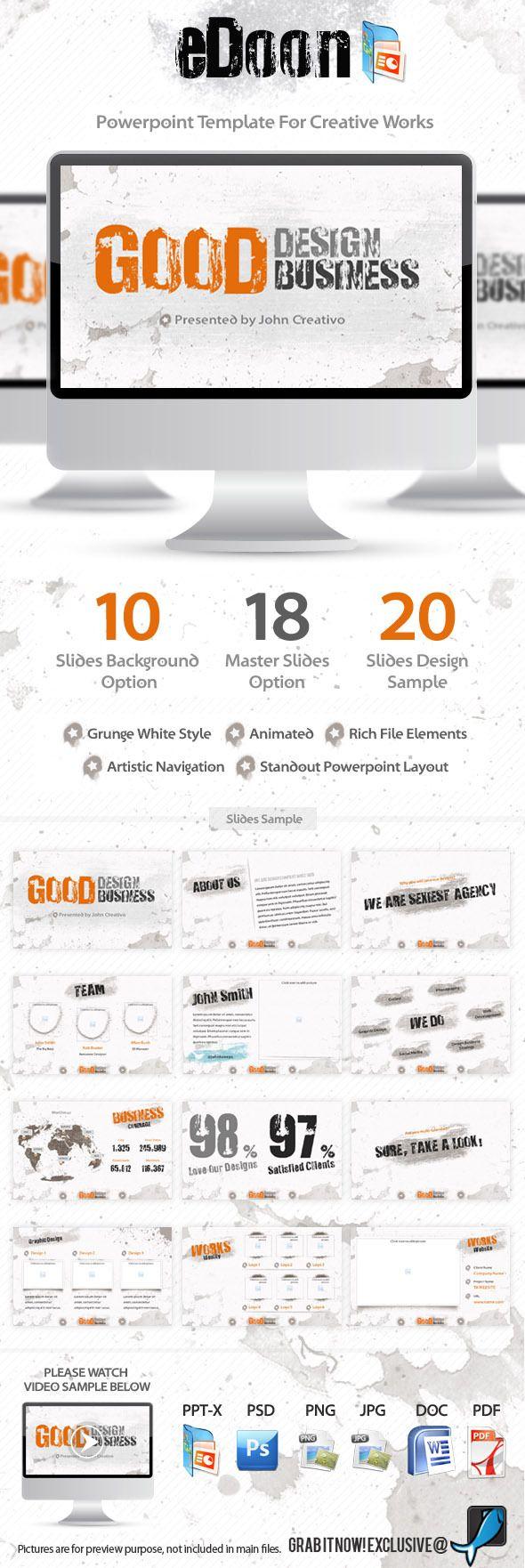 13 best powerpoints images on pinterest presentation layout edoon powerpoint template for creative works toneelgroepblik Gallery