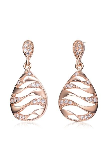 Megan Walford CZ Rose-Tone Sterling Silver Teardrop Cutout Earrings, http://www.myhabit.com/redirect/ref=qd_sw_dp_pi_li?url=http%3A%2F%2Fwww.myhabit.com%2Fdp%2FB0119UE5ZK%3F