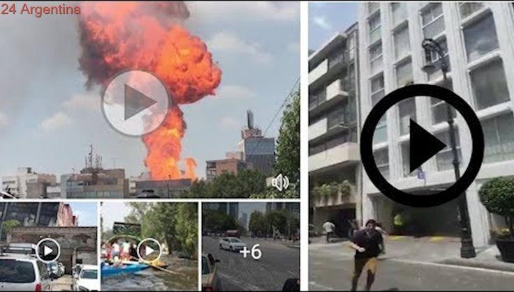 Momentos del terremoto de hoy 19 Septiembre 2017 en México. videos