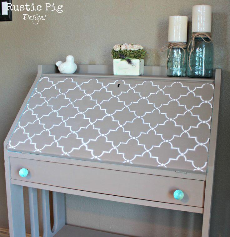 BEAUTIFUL DIY secretary desk makeover!!!