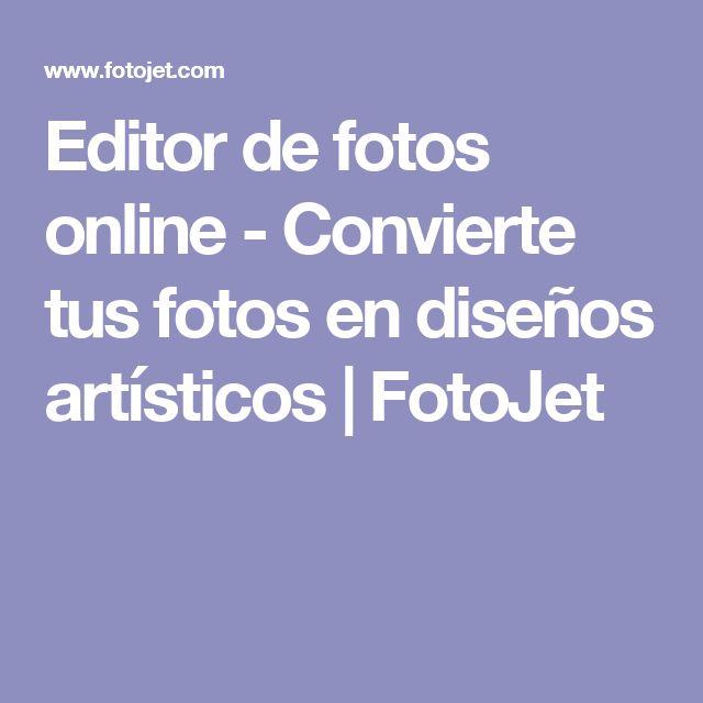 Editor de fotos online - Convierte tus fotos en diseños artísticos | FotoJet