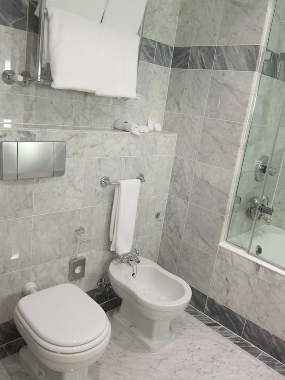 Toilet and Bidet Combination in Modern Bathroom: Awesome Bathroom With Combination Toilet And Bidet System Completed With Gray Marble Flooring Also Walls ~ darvoda.com Bathroom Design Inspiration