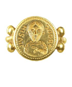 Anello sigillare Longobardo, metá VII sec. d.C.. (immagine)