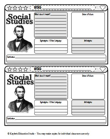 Printables Social Studies Vocabulary Worksheets 1000 ideas about vocabulary journal on pinterest a entry template for social studies words