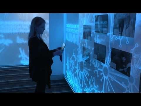 [태블릿PC로 방명록 확인]   University of Canberra's Distinguished Alumni Interactive Gallery (Demonstration) - YouTube