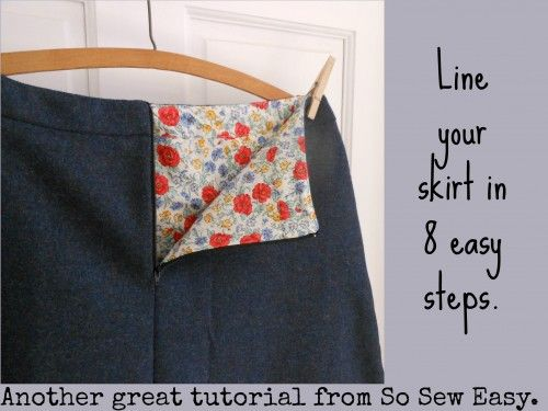 How to Line a Skirt in 8 Easy Steps - I originally found this great project on freeneedle.com along with 1,000s of other free sewing and craft ideas!