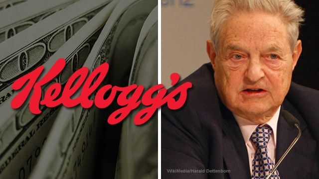 "Kellogg's Found To Have Financial Ties To The Money Man For Cop-Killing Left-Wing HATE Groups: George Soros - ..When you buy Kellogg's products, you may be funneling money into the kind of hate-based operations associated with people who advocate killing cops in America. A Breitbart.com investigation found that ""W.K. Kellogg Foundation has partnered with and given major donations to George Soros's Open Society Institute and the Tides Center as part of its massive push [...] 12/02/16"