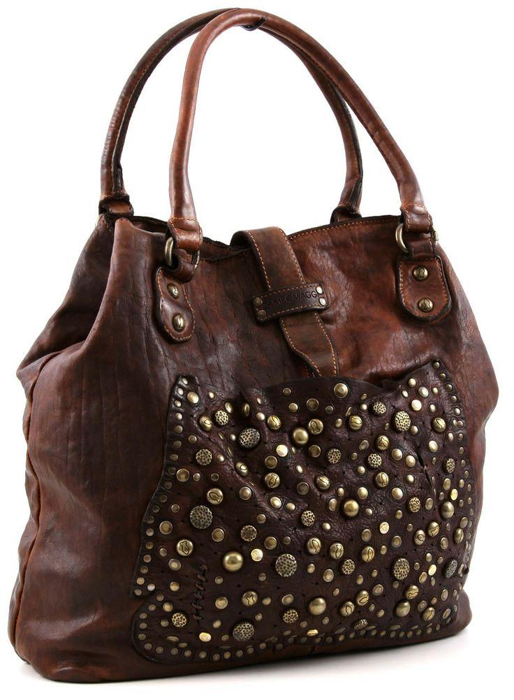 Campomaggi Tote Leather 36 cm - C1056VL - Designer Bags Shop - wardow.com