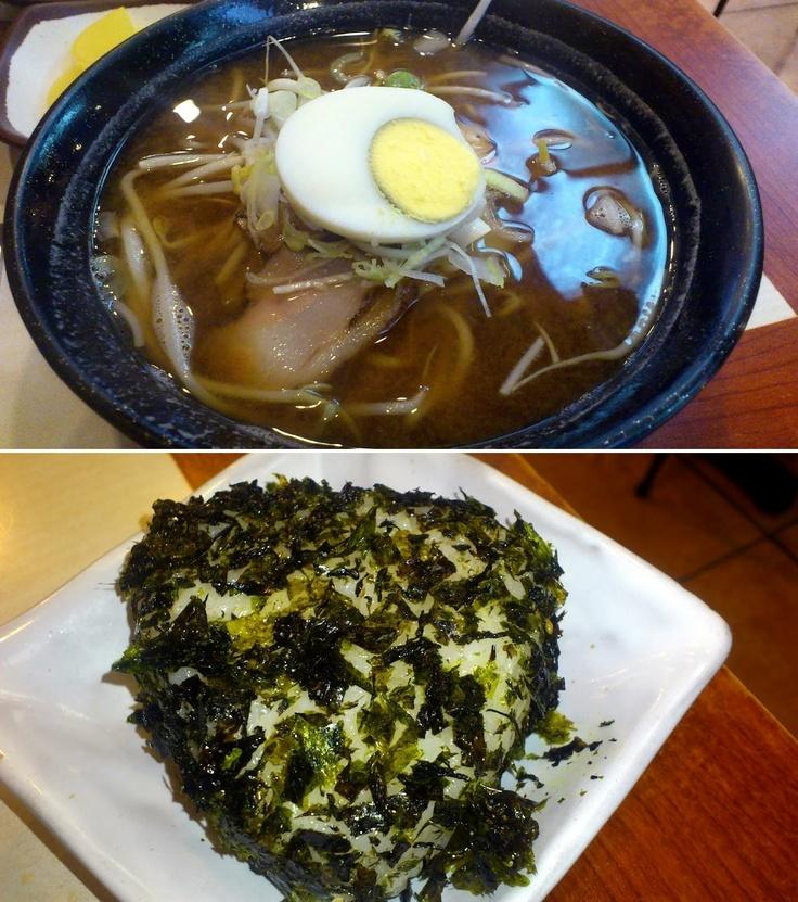 요즘은 김밥천국에서 일식메뉴도 판매하는군요. 가볍게 미소라면과 주먹밥.