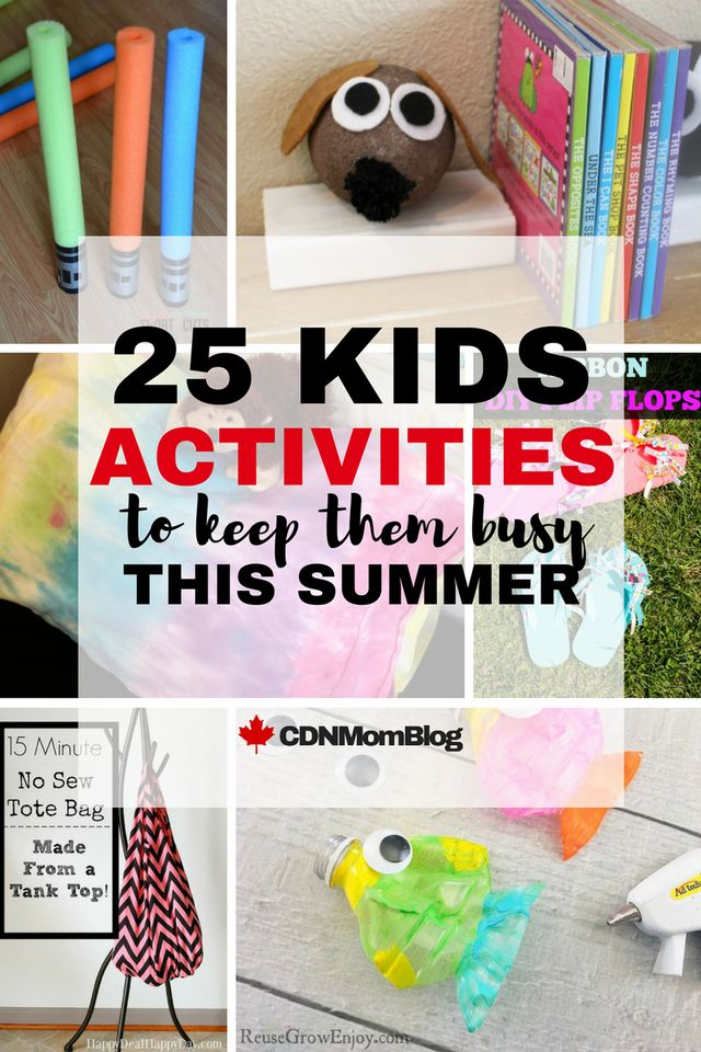 25 Kids Activities to keep them busy all summer long!