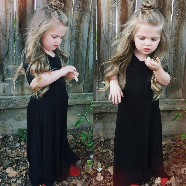 Top knot half up half down Little girl hair More