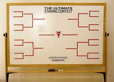 haha, love this idea for a party: staring contest tournament! so many funny moments/photos.