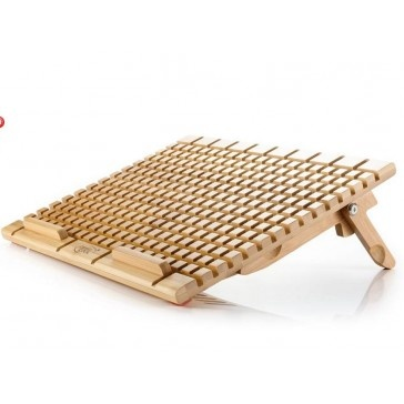 Notebook Cooler Eco-friendly Bamboo Panel with Dual 140mm Fan