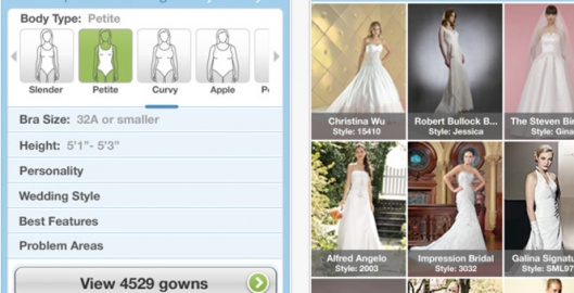 Free app that helps you choose your dream #wedding dress