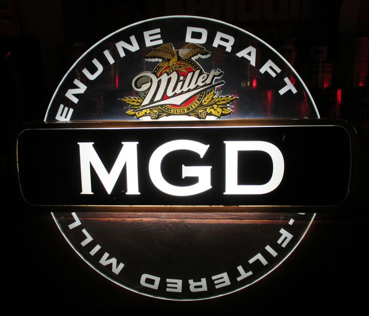 Rare MILLER GENUINE DRAFT MGD Rotating Illuminated Motion Sign, Circa 1994