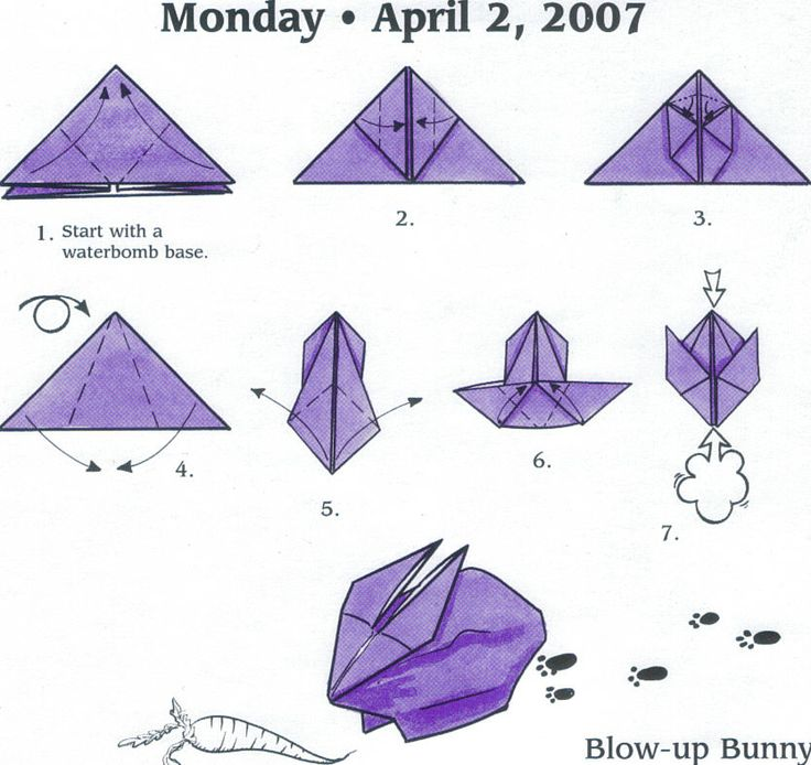 blow up bunny origami pinterest bunny origami and