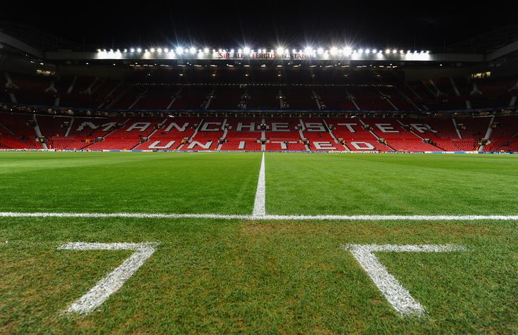 The view from the touchline of the hallowed turf at @manutd's Old Trafford.