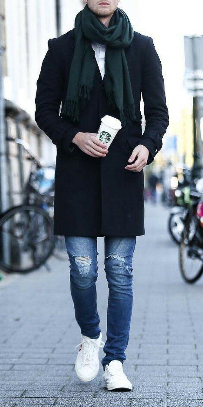 Winter outfit ideas for men. #mensfashion #fallfashion #streetstyle