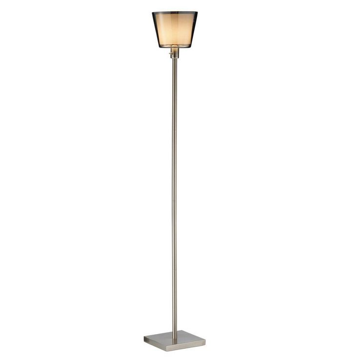 Adesso Prescott 71 in. Satin Steel Tall Floor Lamp