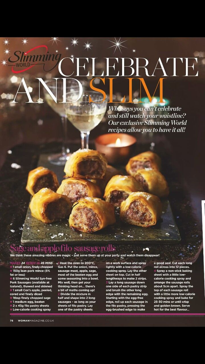 slimming world sage and apple filo sausage rolls