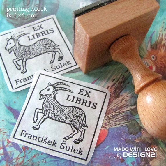 Capricorn: personalised stamp 4x4 cm by lida21 on Etsy