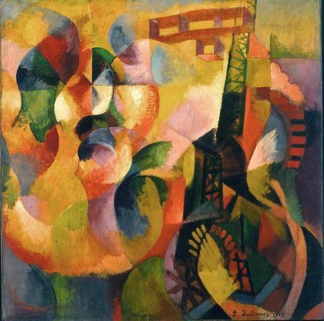 Robert Delaunay  - Sun, Tower, Airplane - 1913
