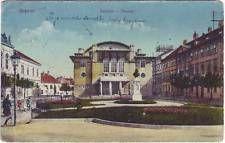 Ödenburg Theater und Platz (Szinhaz) Győr-Moson-Sopron Ansichtskarte 1916