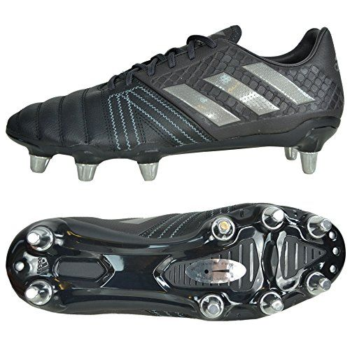 buy now   £62.40   Enforce yourself upon on the game when you lace up a pair of these adidas Kakari Elite SG Rugby Boots in Core Black, Night Metallic and Utility  ...Read More