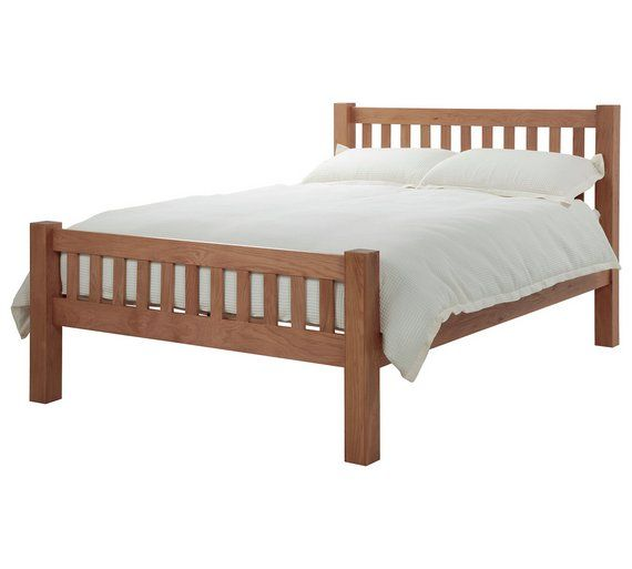 buy silentnight ayton kingsize bed frame solid oak at argoscouk