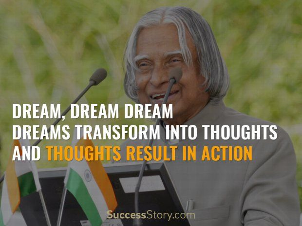 Famous Motivational Quotes from Abdul Kalam on Students